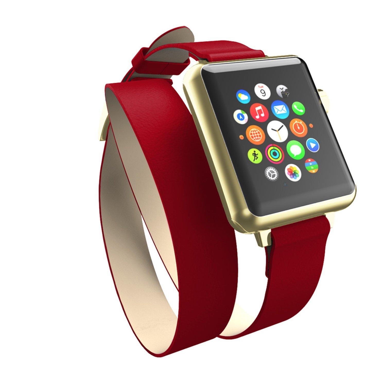 Incipio Incipio Reese Decker quấn dây đồng hồ có thể áp dụng cho Red/Gold Apple Watch 42 mm.