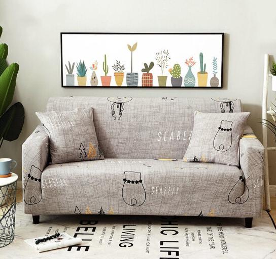 Brata Hoạt hình Vải Ratta sofa bộ lực đàn hồi đầy ghế nệm mũ trơn nhỉ chim cánh cụt và con gấu 230*3