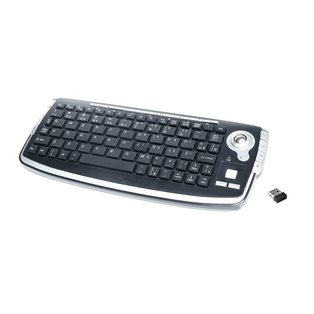 Inland Wireless Multimedia Keyboard with Trackball (70142)