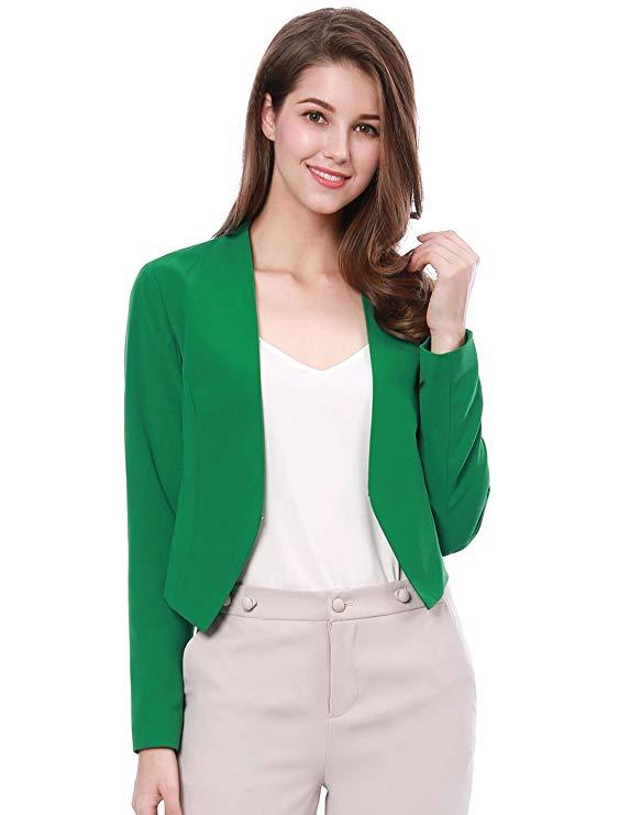Allegra K của phụ nữ collarless làm việc văn phòng kinh doanh thể thao giản dị áo khoác