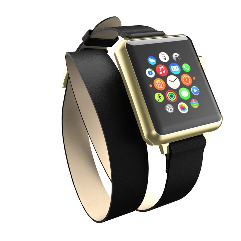 Incipio Incipio Reese Decker quấn dây đồng hồ có thể áp dụng cho Apple Watch vàng đen / 42 mm.