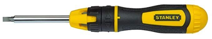 STANLEY stht0 - 62574 bit-screwdriver với 20 bit và ratchet, đen / vàng, bộ 22 miếng