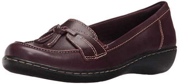 Giày lười nữ Clarks Ashland Bubble màu nâu đế thấp