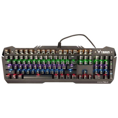 iTek ITKX06 USB Italienisch Schwarz Tastatur - Tastaturen (Standard, Verkabelt, USB, Mechanischer Sw