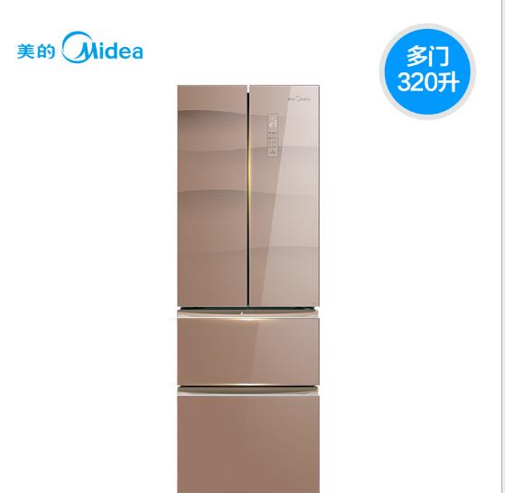 Midea Vẻ đẹp của Midea/ BCD-320WGPZM bốn cửa tủ lạnh gia dụng thông minh không có kem thay đổi tần s