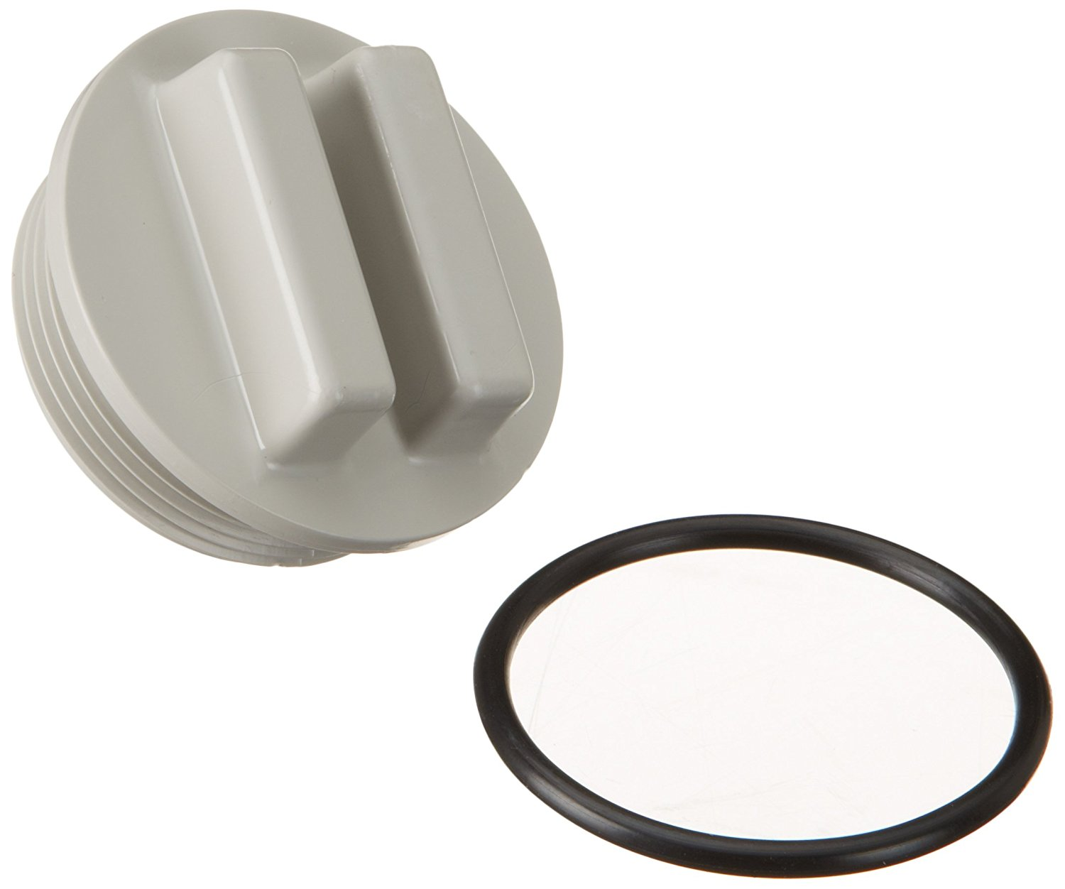 Hayward SP1022CGR 1-1/2-Inch MIP Gray Concrete Pool Drain Plug with O-Ring