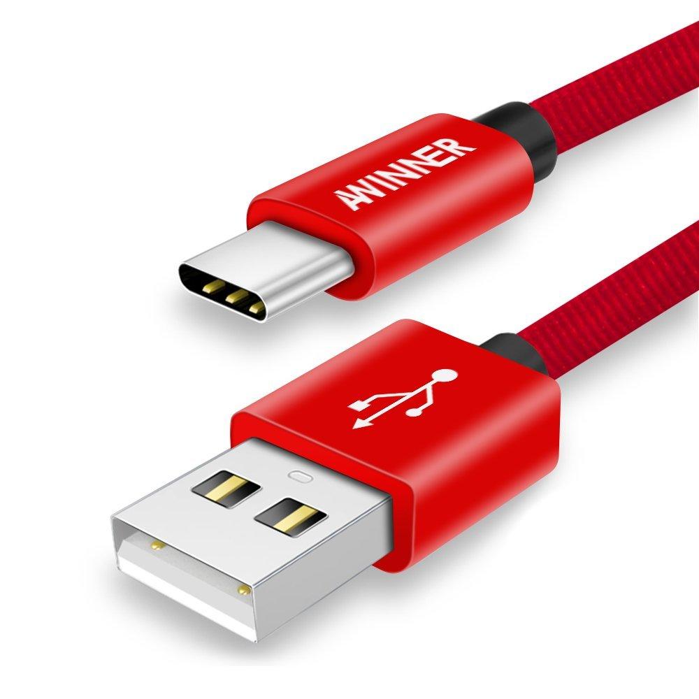 AWINNER type C dây sạc nhanh tốc độ dữ liệu usb-c sạc dây truyền chung vào dòng Huawei Honor vinh qu