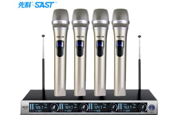 SAST SAST/ bốn micro không dây chuyên nghiệp trên sân khấu Nhà hát karaoke họp micro micro đa phương
