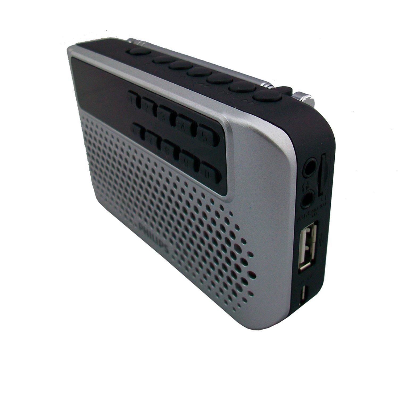 Philips Philips Philips SBM120 SLV trình xách tay nhỏ ngoài dàn âm thanh nhạc chuông MP3 Player FM