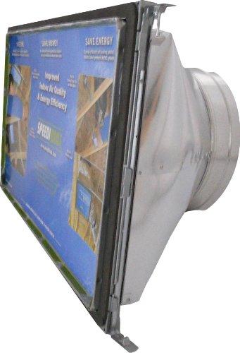 Speedi-Boot sbh-202516 SRA rộng 30,48 cm, dài 101,60 cm đến 25,4 cm đường kính ống xả REGISTER vuông