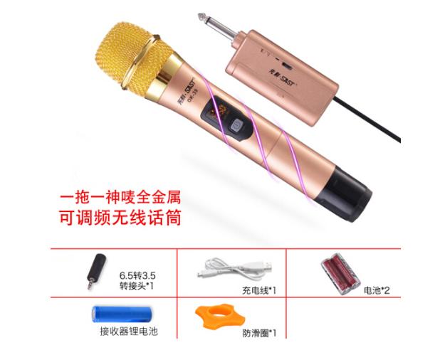 SAST (SAST) ok-39 micro không dây truyền hình máy tính kim loại U đôi họp K phần microphone sâm - ba