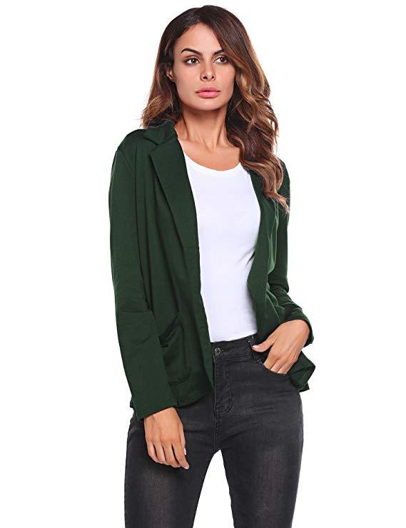 Zeagoo hơi nước của phụ nữ làm việc bình thường phù hợp với văn phòng đoạn mở dài tay áo cardigan áo