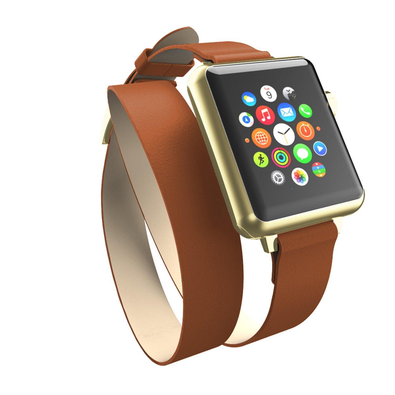 Incipio Incipio Reese Decker quấn dây đồng hồ có thể áp dụng cho Tan/Gold Apple Watch 42 mm.