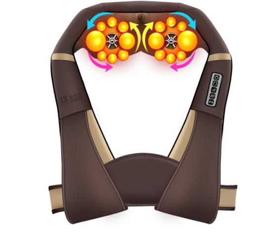 Le er kangLEK-518-6 xoa bóp cổ áo choàng vai nung cổ xương cổ vai eo xoa bóp cổ sâu màu sắc đáng sợ