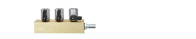 Wiha Khối phân phối Wiha với van bi 3 và nam châm, hệ thống 1/2 inch, 4122850