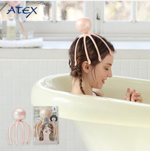 ATEX da đầu rồng đầu sóng âm có nhiều khả năng máy massage da đầu máy xoa bóp tay màu hồng.