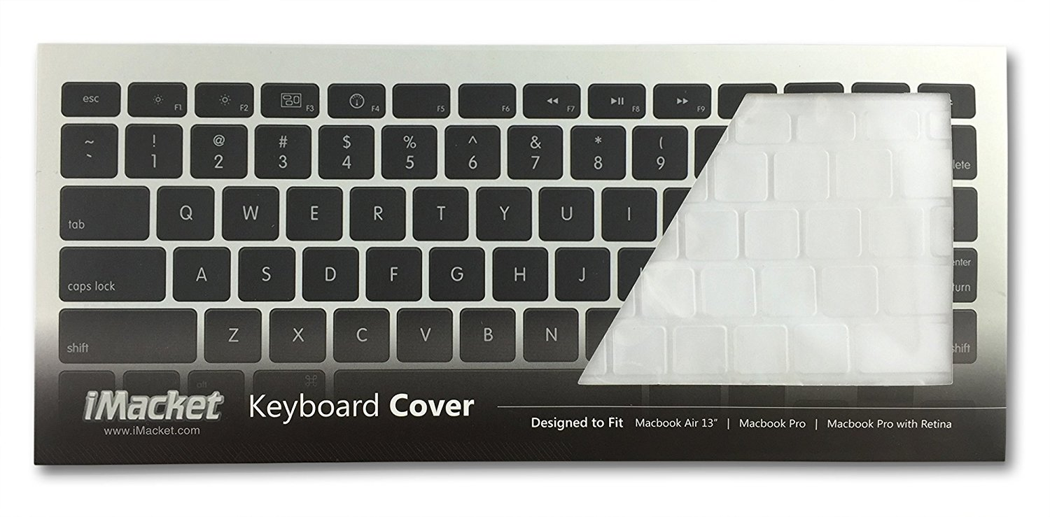 iMacket - Ultra Thin Clear Soft TPU Keyboard Cover Skin for Macbook Pro 13