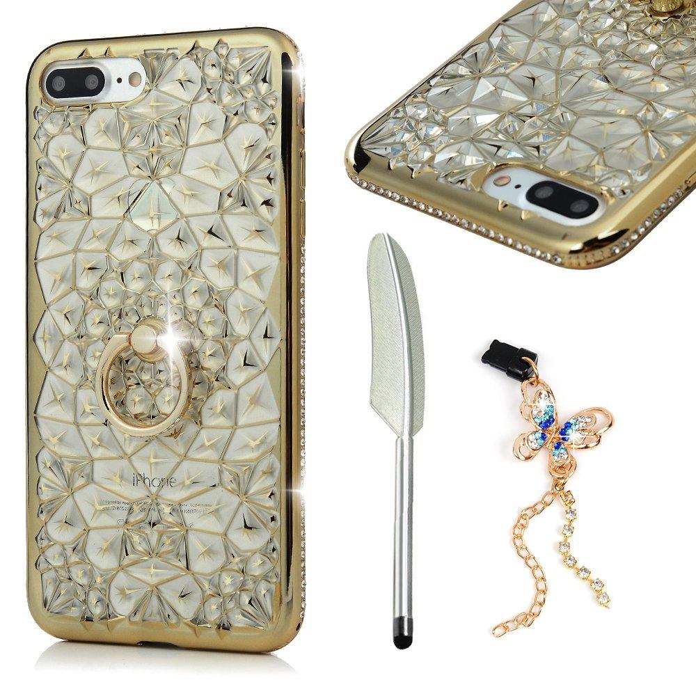 Mollycoocle iPhone 7 Plus điện thoại vỏ mềm TPU đệm bóng Sparkle xa hoa tỏa sáng * Rhein thạch trong