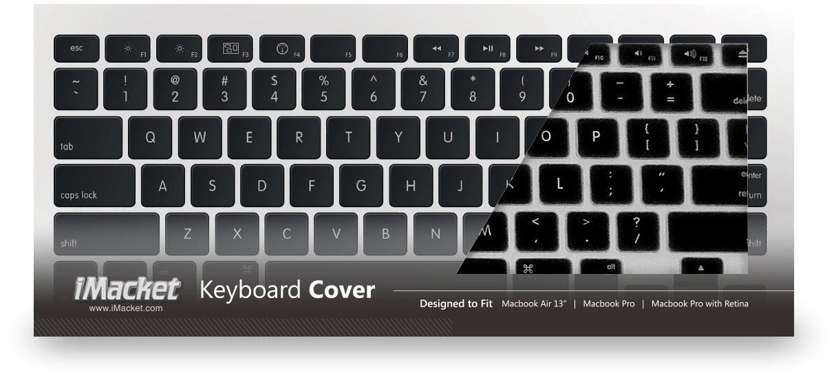 iMacket - Keyboard Cover Silicone Skin for MacBook Pro 13