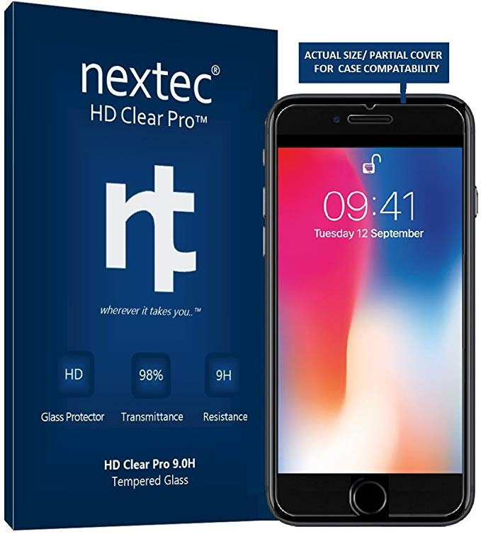 Bảo vệ màn hình bảo vệ màn hình iPhone X (2 PACK) bảo vệ màn hình kính cường lực nextec cho Apple ip