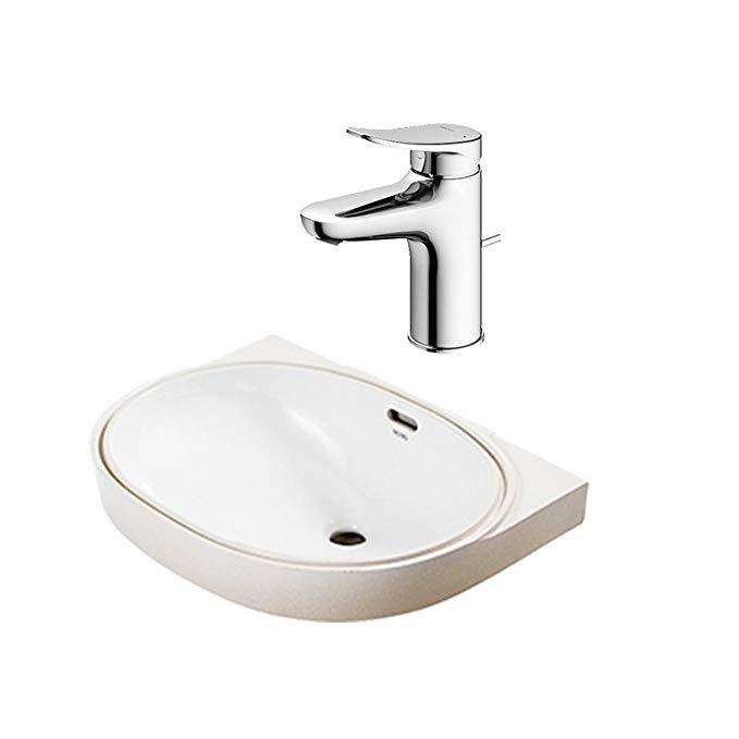 TOTO vanity dưới loại truy cập làm sạch thông minh lưu vực LW546B + TLS04301B với vòi kết hợp