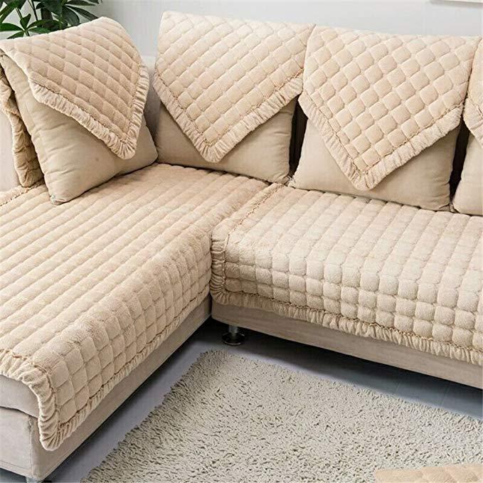 Ostepdecor cửa mat pet dog sofa hình chữ nhật mùa đông chần đồ nội thất bị bảo vệ bìa cho sofa, Love