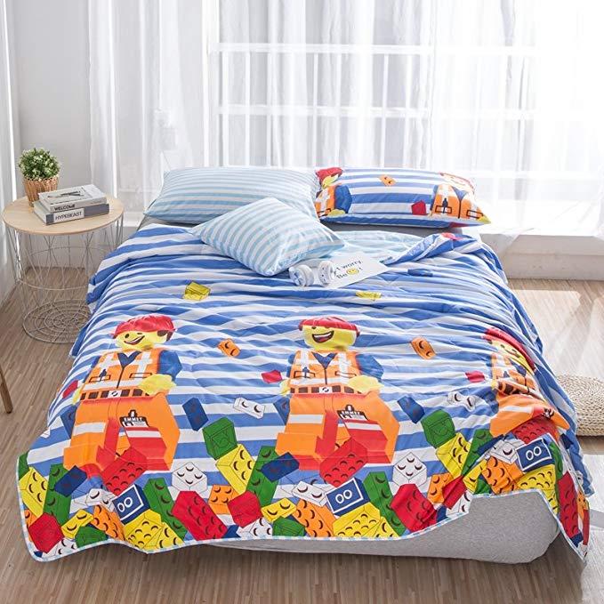 Có thể giặt bông mùa hè chăn bông nguyên chất mùa hè mát mẻ quilt 60 satin vải mỏng quilt điều hòa k