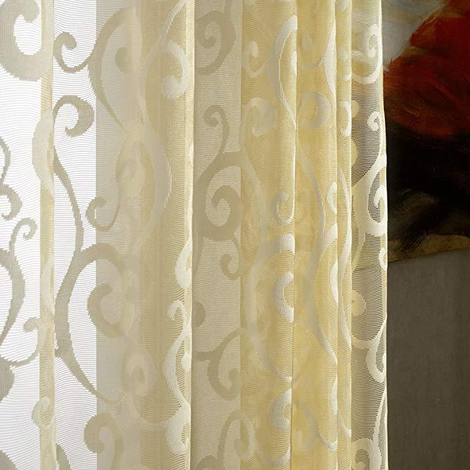 Jiarui Châu Âu mục vụ trong suốt sang trọng jacquard màn hình Cao cấp phòng khách phòng ngủ phòng ăn