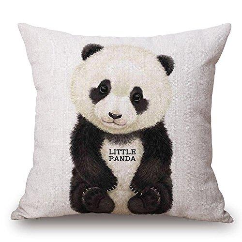 Jes & MEDIS Panda Loạt Đệm Linen Trang Trí Sofa Trang Trí Nội Thất Pillowcase 45.7x45.7 cm