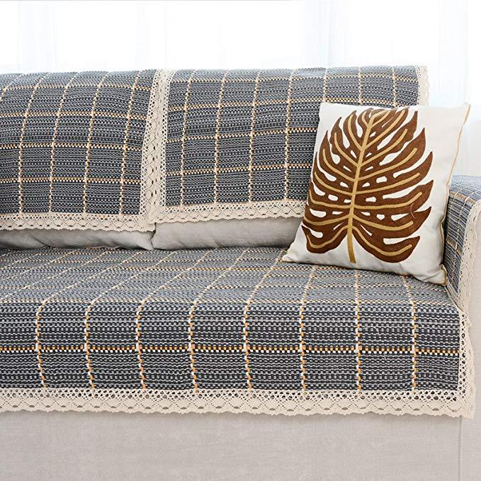 Le Wei Shi vải dày sofa đệm đơn giản hiện đại cotton dệt sofa đệm đệm Châu Âu-phong cách non-slip so