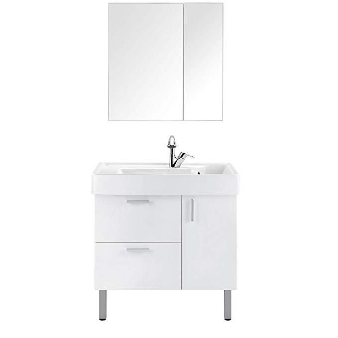 MOEN Moen Lapland A5 series 800 tủ phòng tắm + 635 mét tủ gương gói kết hợp lỗ duy nhất Mỹ hiện đại