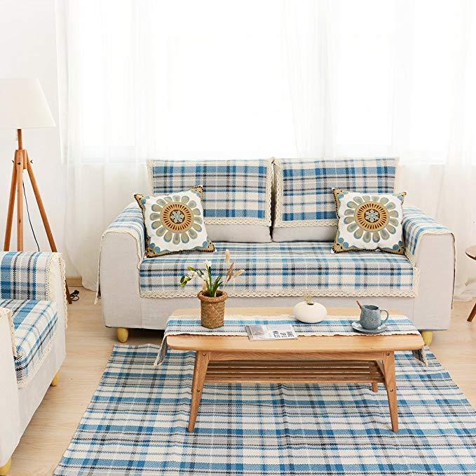 Khăn tắm Le Wei Shi đơn giản hiện đại dày sofa đệm ghế bốn mùa non-slip sofa đệm đệm vải dệt cát Bay