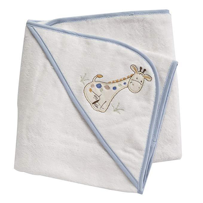 Nhung trùm đầu khăn - *** Cotton - trắng với màu sắc viền hươu cao cổ - ánh sáng màu xanh