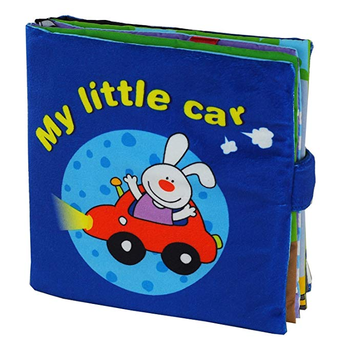 Sách vải Xe hơi nhỏ của tôi hình thỏ con LALABABY
