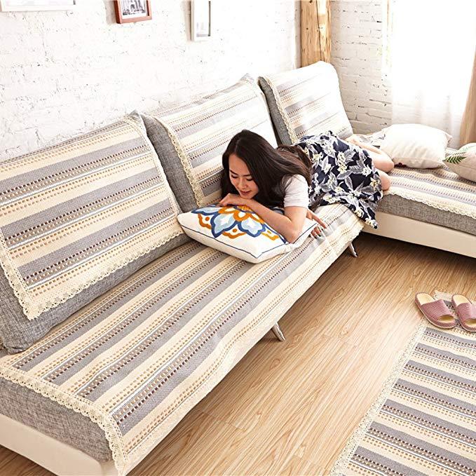 Maya Olange vườn vải Nhật Bản- phong cách tay- dệt bông sofa đệm không trượt sofa đệm mat sofa bao g