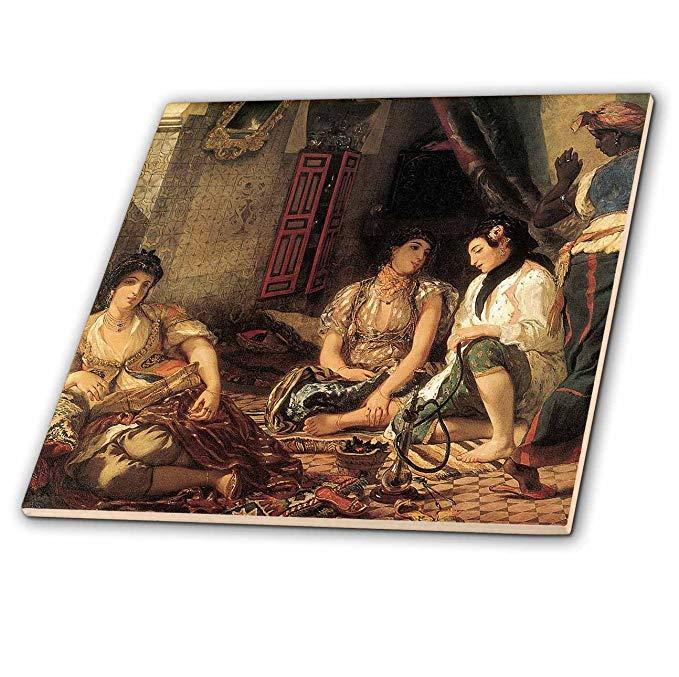 CT 127418 BLN Bộ sưu tập nghệ thuật Trung Đông và Bắc Phi - EUGENE delacroix algerian Women's Căn h