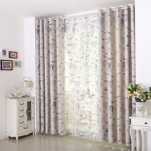 Phòng trẻ em lâu đài phim hoạt hình dài cấp ba lớp dệt mật độ cao chống nếp nhăn màn rèm cửa (màn hì