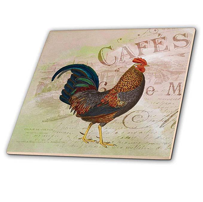 PS vintage - French Rooster Café Nghệ thuật cổ điển - Ngói