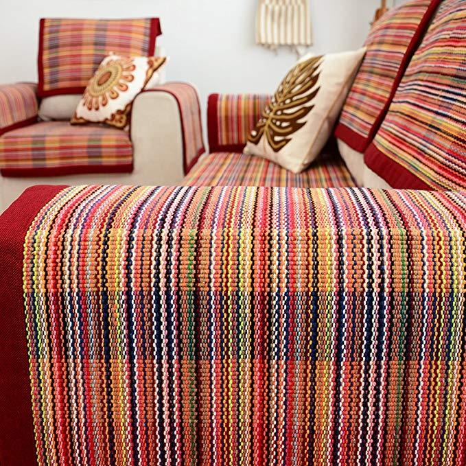 Le Wei Shi bốn mùa sofa vải đệm đơn giản hiện đại bông dệt sofa đệm đệm Châu Âu-phong cách không trư