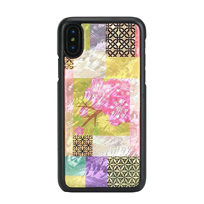 iKins iPhone X vỏ tự nhiên vỏ điện thoại di động Cherry Blossom hộp đen (Apple điện thoại di động tr