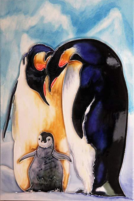 Yh-arts 8X30.48 cm-627 penguin trang trí nội thất gạch đa màu 8X30.5 cm