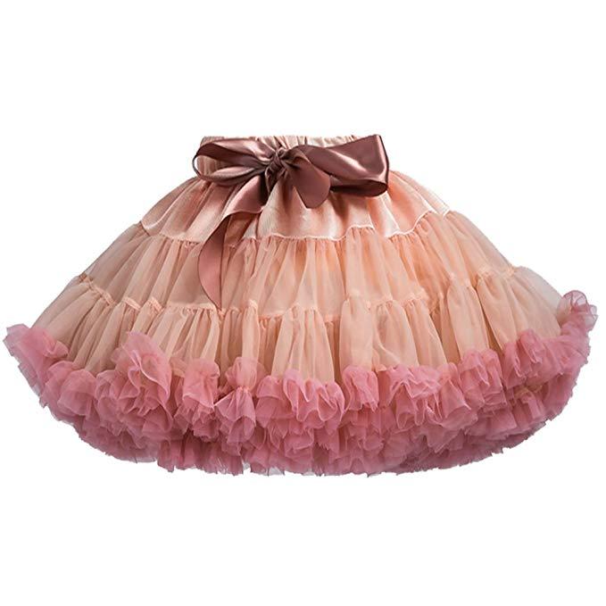 Váy hoa bé gái màu hồng phong cách Châu Âu Tutu
