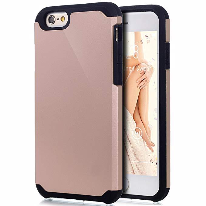 iPhone 6s trường hợp, iphone 6 trường hợp, ikasus lai nặng sốc gói dirtproof mềm silicone & cứng pc
