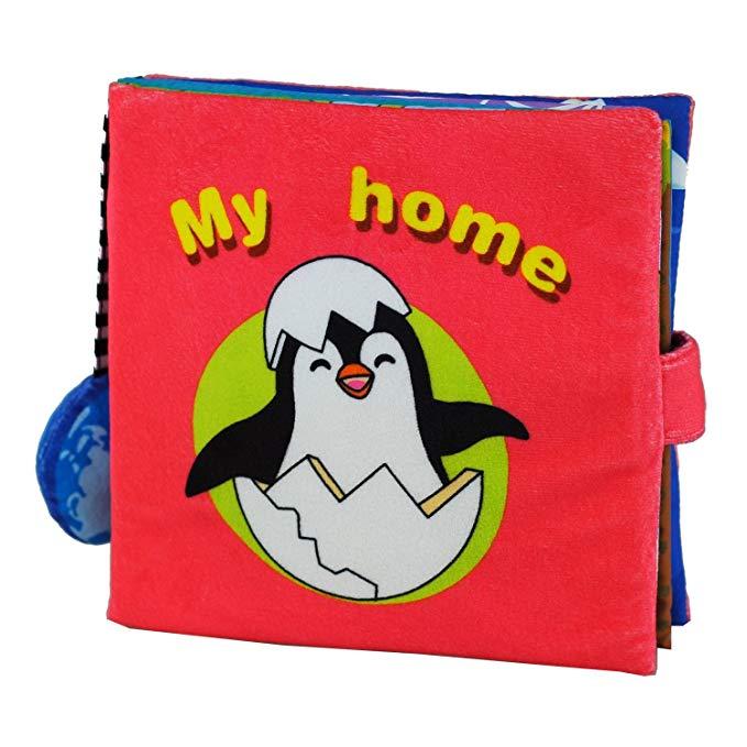 Sách vải hình chim cánh cụt LALABABY