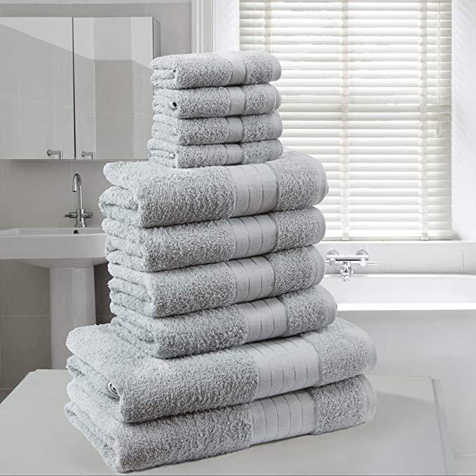 Dreamscene Sang Trọng 100% Ai Cập dài-staple bông 10 piece khăn tắm bó FACE bath handmade bộ quà tặn