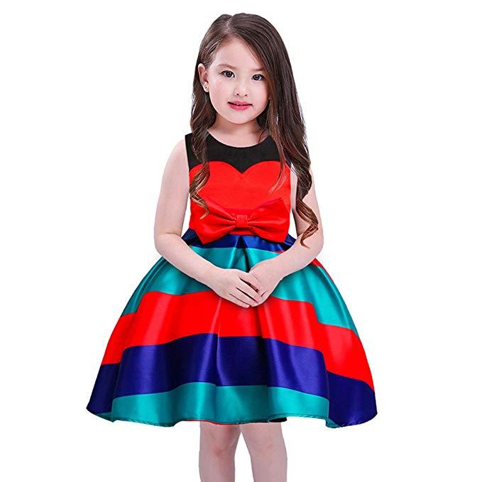 Váy sọc trẻ em cho bé gái nhiều màu sắc JIARUILIN