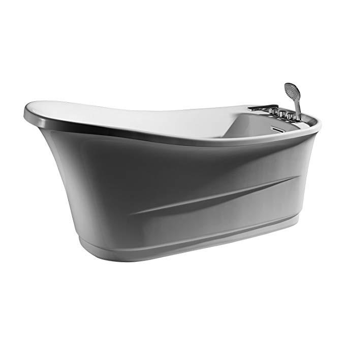 Bồn tắm đơn giãn Braun Acrylic (Tẩy nước + Vòi bồn tắm) 1,5 m B25546TW-1W