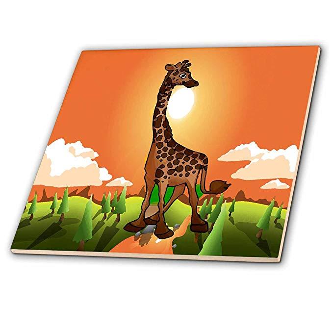 CT _ 5733 Động vật cho trẻ em - Giraffes hạnh phúc - Gạch