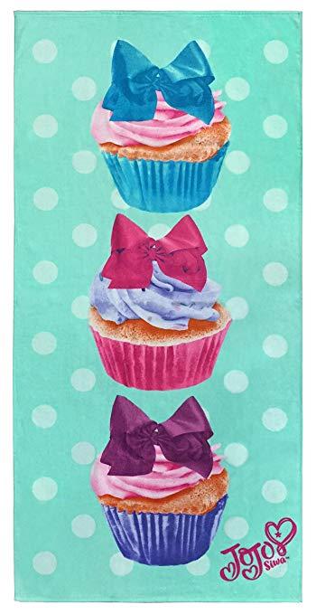 JOJO siwa bow bãi biển khăn cho cô gái cupcakes galore hồ bơi khăn