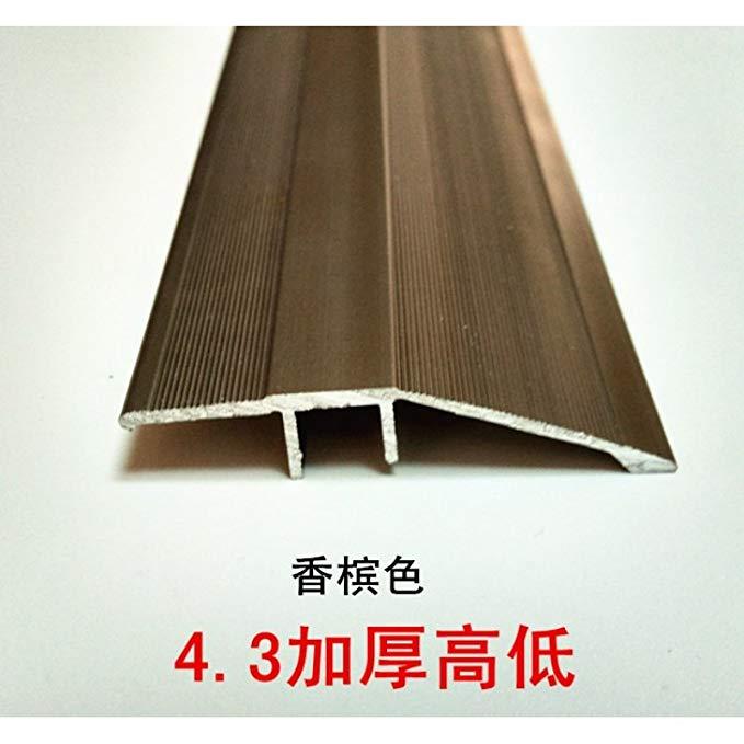 Gỗ sàn beading nhôm hợp kim đồng gỗ cạnh dải phẳng khóa dải cao và thấp khóa dải 4.3 dày cao và thấp